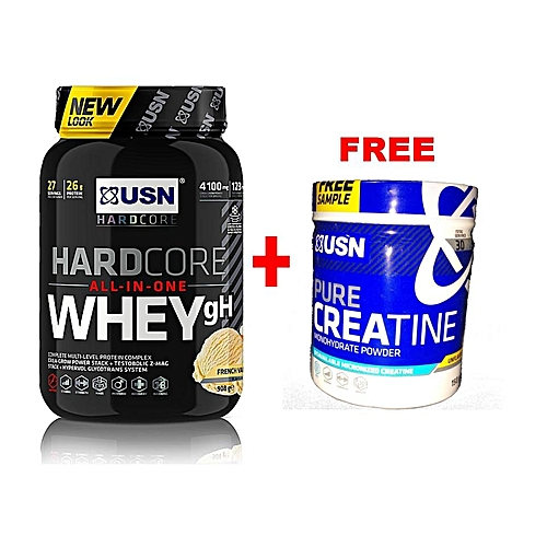 HardCore Whey, 908g - Vanilla With a Free Creatine 150g.