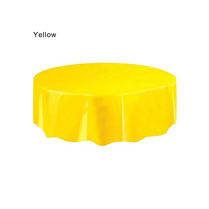 Generic Fohting Large Plastic Circular Table Cover Cloth Wipe Clean