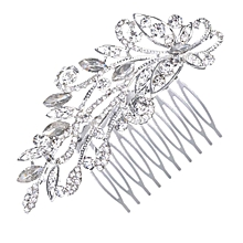 KaLaiXing Brand Bridal Hair Comb Wedding Hair Side Combs Bridal Head Pin Headpiece Crystal Pearls Flower Bride Bridesmaid