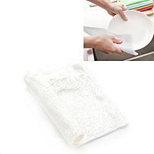 20 PCS Bamboo Fiber Anti-Grease Dish Washing Cloth Towels(White)