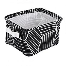Foldable Convenient Storage Laundry Box Basket Keep Table Tidy Decor Black Geometry