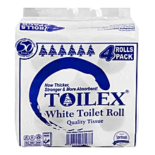White Toilet Roll - 4 Pack