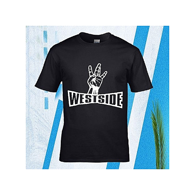 c81e2a53918 Personality Westside Hip Round Neck Tatoo Tee Shirt For Men Camisa 100%  Cotton Online Shop
