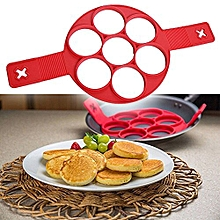 Pancake Maker & Egg Omelette Cooker Non Stick- Red