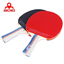 Table Tennis Ping Pong Racket Set Two Paddles Bats Three Balls Penhold - Colormix