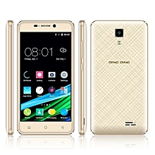 """4.5\ 3G Smartphone Mobile Phone Dual Sim Dual Standby - Gold-golden"""""""