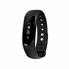 ID101 Smart Bracelet With Heart Rate Monitor Wristband Bluetooth Fitness Tracker(Black)