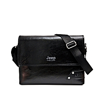 f3df9ac1e48 Leather Bag,Messenger Bag Men Shoulder Bags Business Crossbody Casual-Black
