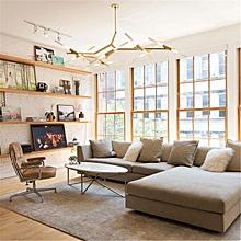 Modern Glass Branch Chandelier Metal Pendant Light Industrial Ceiling Fixtures