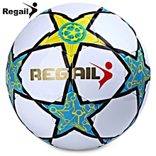 Size 5 Five-pointed Star Soccer For School Match Training - White