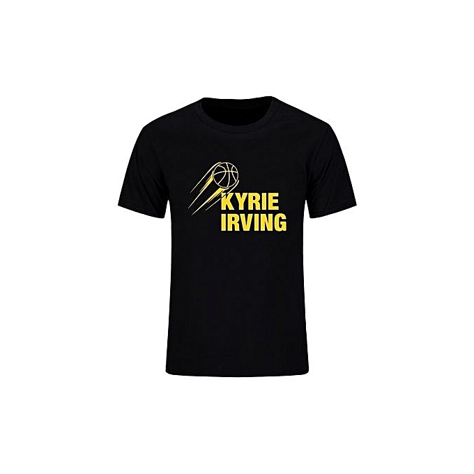 best service 9cea5 1fe75 Kyrie Irving Logo Shirts Men Summer Cotton Short Sleeve Basket Ball Hip Hop  T-Shirt