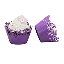 25pc Christmas Lace  Cut Cupcake Wrapper Liner Baking Cup Muffin
