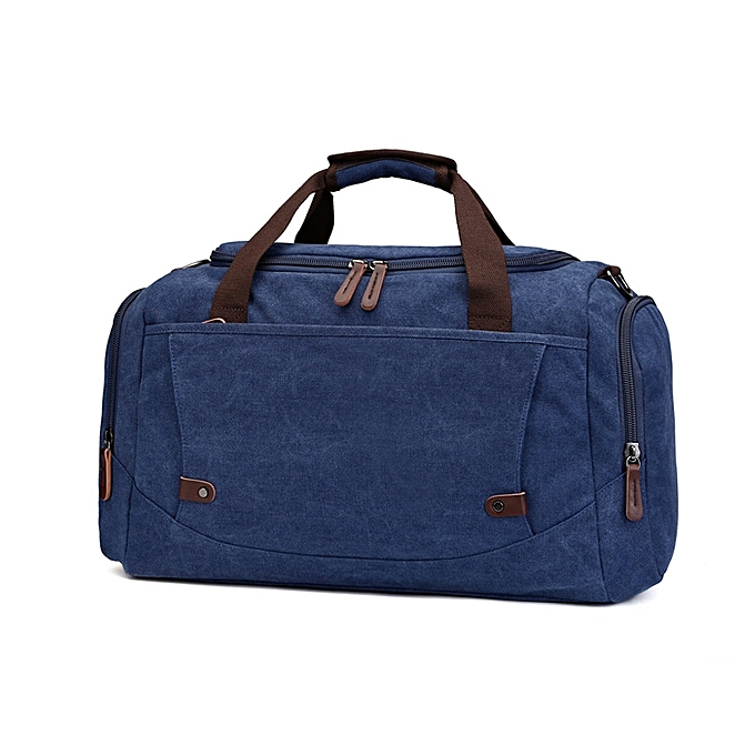 ca12f2d70236 Unisex casual canvas travel duffle bag large capacity storage hand luggage  weekender bag