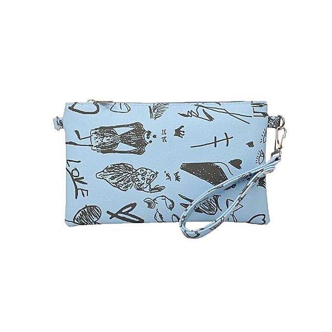 Fashion Graffiti Women S Clutch Bag Envelope Female Handbag Lb