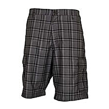 Black Tip Checked Men's Stylish Shorts