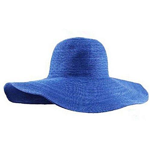 fd9d978322c Eissely Summer Women Foldable Wide Large Brim Floppy Beach Hat Sun Straw Hat  RB   Best Price