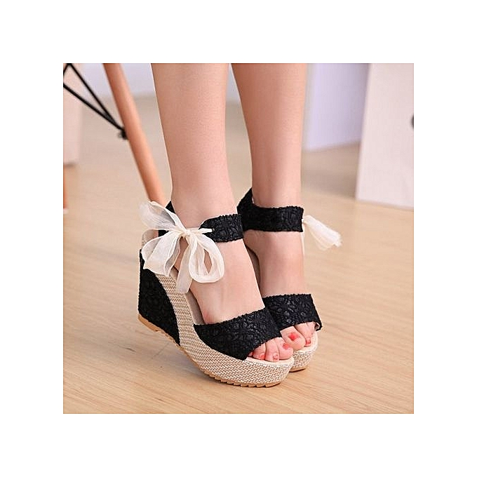 d5047e473cf04 Grace Women s Shoes Superior Quality Summer Style Comfortable Bohemia  Platform Wedges Sandals For Lady Shoes High
