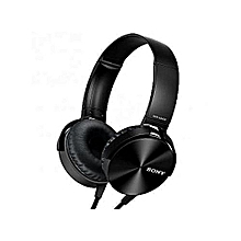 Black Extra Bass Headphones