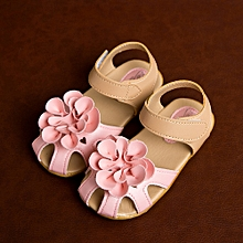 Girl Cool Summer Sandals Skidproof Toddlers Children Kid Flower Shoes PK/21-Pink