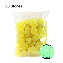Glow in the Dark Garden Pebbles Glow Stones Rocks for Walkways Garden Path yellow