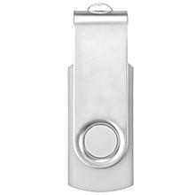 8GB USB 2.0 Fold Swivel Bright Flash Memory Stick Drive Storage Thumb Disk Gift (White)