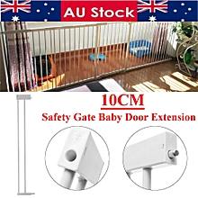 "30""x4"" Metal Safety Gate Baby Door Extension Child Toddler Pet Walk Lock Stairs"