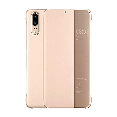 sale retailer dadf8 980dd Case For Huawei P20 Pro Luxury Leather Fabric Phone Cover Smart Window View  Flip Cases For Huawei P20 Pro Auto Sleep Cover Handphone Casing 970166 ...