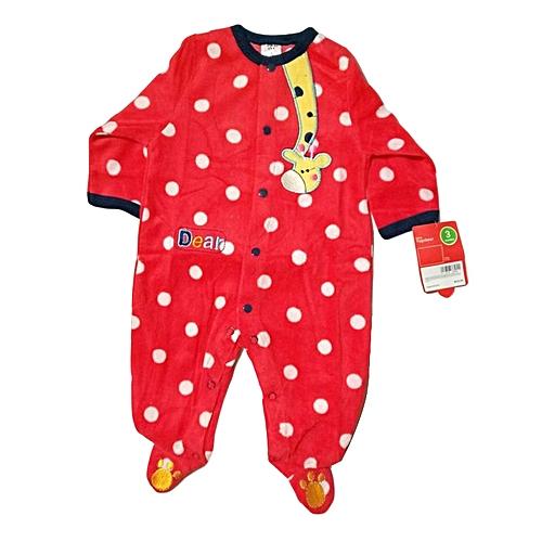 d9d0e737742 Generic Red Coral Fleece Baby Jumpsuit   Romper   Best Price
