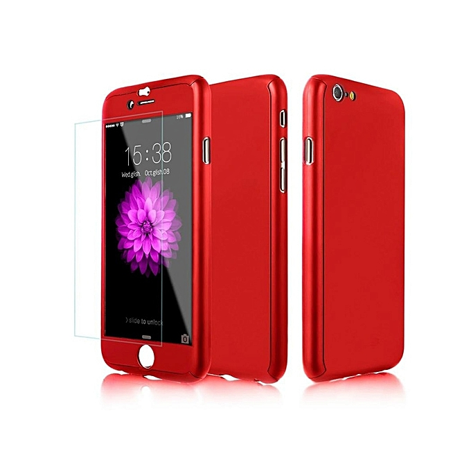 Iphone 6 6s 6 Plus 6s Plus 7 7 Plus Phone Case Full Protection Solid Color Hard Cover Iphone 6 6s Deep Red