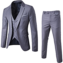 3 Pcs/sets  Men's Formal Slim Business Bridegroom Suits Blazer