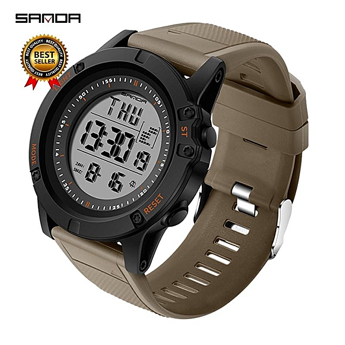 45e061cdfee SANDA Military Countdown Sport Watch Men G Shock LED Digital Watch  Waterproof Electronic Men Watches relogio