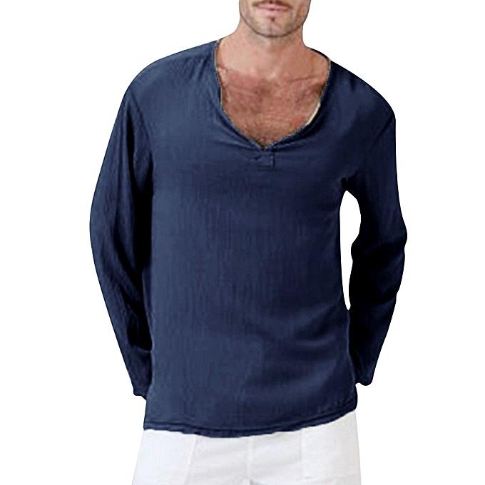 f4f0f6d99e6b Fashion Technologg Shop Mens Summer T-Shirt Solid Thai Hippie Shirt V-Neck  Beach Yoga Top Blouse
