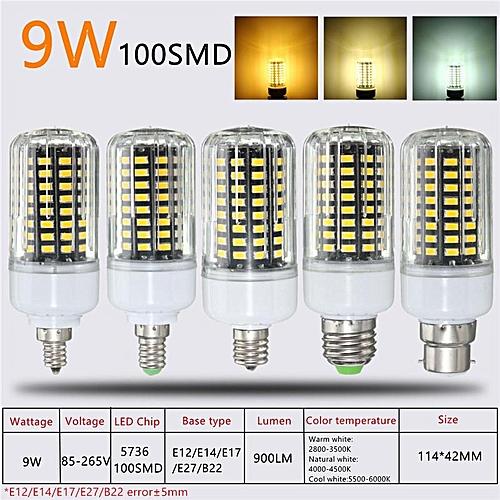 Cool White Led Lamp 5736 Light 3 Ampoule Bulb 18w 85v E14 265v Smd Corn nOX8wk0P