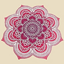 Red Round Lotus Bohemian Mandala Tapestry Beach Hippie Throw Towel Blanket Yoga Mat