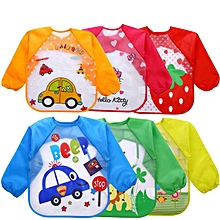 Long sleeves children leakproof bibs-washable-no stains-Unisex-easy maintenance