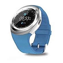 Smart Phone Watch- MTK6261 TKY- Y1 - Bluetooth 3.0 280mAh - Blue & Silver