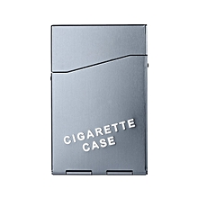 Aluminum 20 Pieces Cigar Cigarette Tobacco Holder Storage Case Pocket Box-Gray