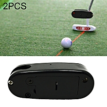 2 PCS Golf Putter Laser Sight Corrector Golf Training Accessories (Black)
