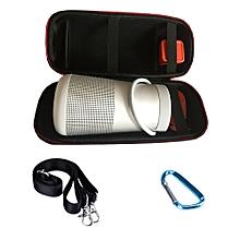 Speaker For Bose SoundLink Revolvebose+Travel Bluetooth Speaker EVA Storage Shoulder Bag-Black