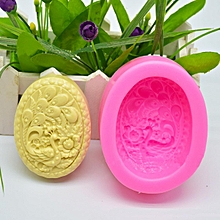 Pea Oval Soft Silicone Soap Mold Craft Molds DIY Handmade Soap Mould Craft