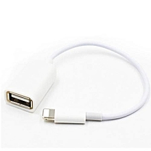 OTG Adapter Cable For IPhone Mobile Phone-White