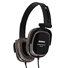 MH513 3.5mm Jack Collapsible Headband Headset Wired Headphones With Microphone And Voice Control Function(BLACK)