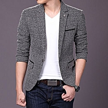 Men's Hot Sale New England Men's Fashion Leisure Suits, Business Casual Slim Small Suit Jacket-grayblack