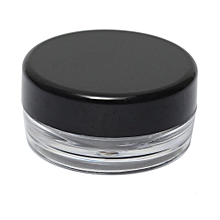 Empty Jar Pot Cosmetic Face Cream Bottle Container Screw Lid Candy Color 3g New Black
