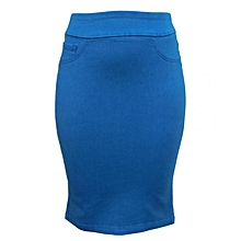 Hawain Blue - Pencil Skirt