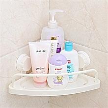 Bathroom Corner Shelf With Suction Rack Organizer Cup Storage Shower Wall Basket
