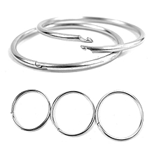 Outdoor EDC Key Ring Buckle Metal Round Chain Quick Release Clamp Ring