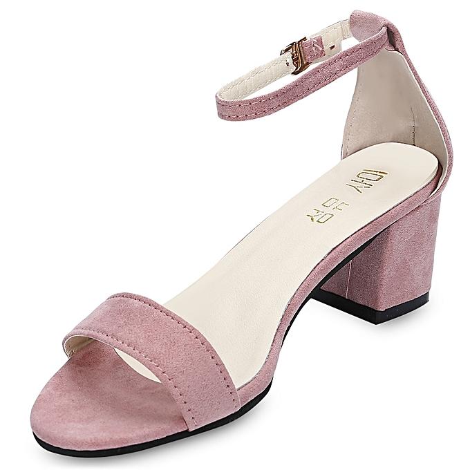 Fashion Trendy Women Open Toe Low Heel Shoes-PINK   Best Price ... 0c2ebf417f