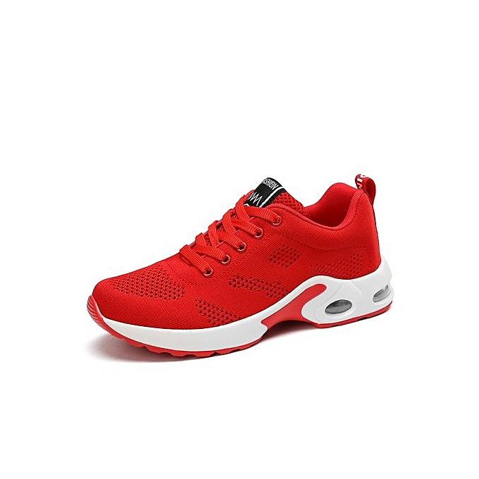 b502560cfaadcf ... White  Women Sneakers Air-cushion Sports Shoes Running Shoes-Red  all red  nike ...