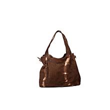 Ladies leather handbag- amani brown
